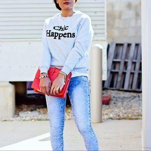 Topshop | Chic Happens Sweatshirt Size 2